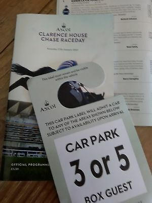 ascot race programme collection
