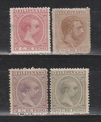 Philippines / Filipinas - 1890-1892 - 4 Stamps - Mng/used (1 With Back Thin)