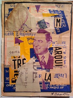 KURT SCHWITTERS-mixed media collage ---