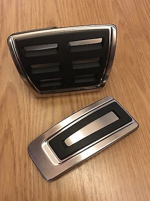 Genuine OEM Audi A1 8X, A3 8V, TT MK3 Stainless Steel Pedal Covers - AUTO RHD