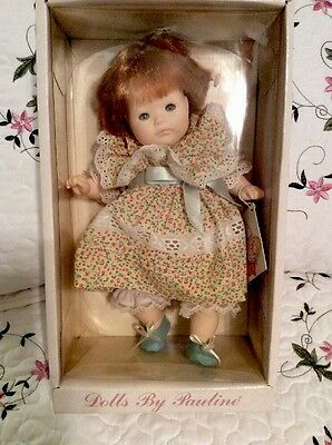 """NIB Party Time Red 10"""" Baby Doll 911733 By Pauline Bjonness Jacobsen NEW"""