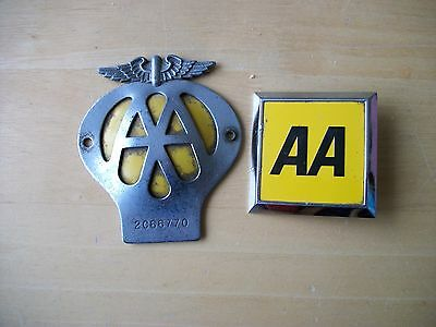 AA Metal Car Badges two different types.