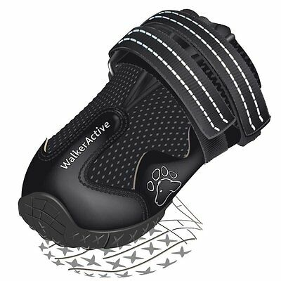 Trixie Black Injured Dog Foot Paw Protect Protector Shoe Boot Boots Unisex (x 2)