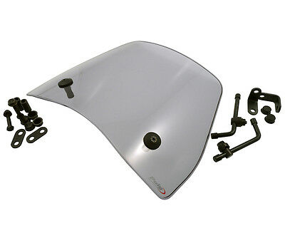 Windscreen PUIG Trafic smoke for MBK Ovetto 50 (bis Bj. 07/2007)