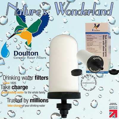 "SUPERSTERASYL® Ceramic Doulton W9121020 5"" Water FILTER CANDLE British Berkefeld"