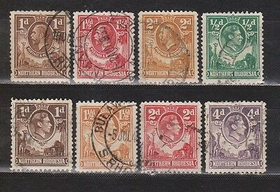 Great Britain - Northern Rhodesia - 8 Different Stamps
