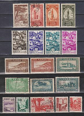 Maroc / Morocco - 1922-1952 - 19 Different Stamps - Mng/used