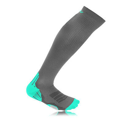 2XU Recovery Womens Grey Green Compression Running Training Long Sports Socks