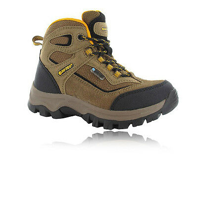 Hi-Tec Hillside Junior Brown Waterproof Walking Trail Outdoors Boots Shoes
