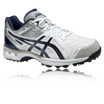 ASICS GEL-220 Not Out Mens White DuoMax Studs Cricket Sports Shoes Trainers