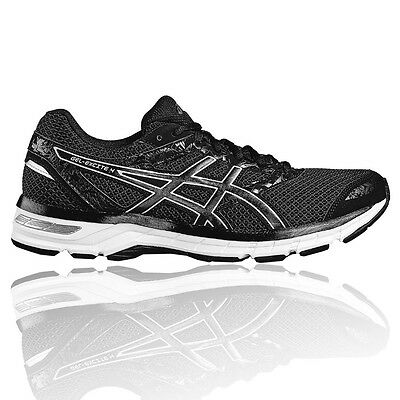 Asics Gel Excite 4 Mens Black Cushioned Running Road Shoes Trainers Pumps