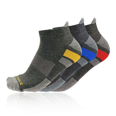 Sofsole Multisport Mens Grey Running Work Out Sports Anklet Socks 3 Pack
