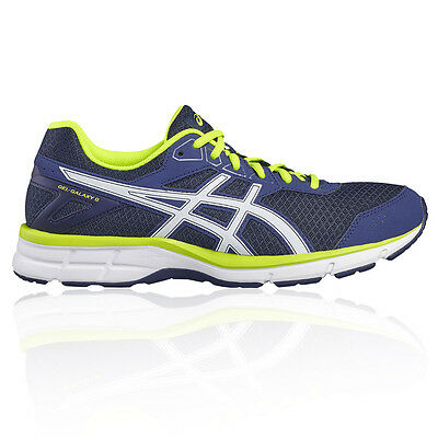 Asics Gel Galaxy 9 Mens Blue Cushioned Running Road Sports Shoes Trainers