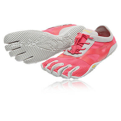 Vibram KSO EVO Womens Pink Grey Five Finger Running Gym Sports Shoes Trainers