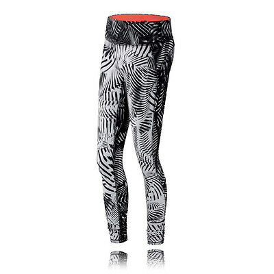 New Balance Premium Performance Womens White Black Running Tights Bottoms