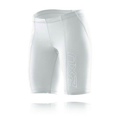 2XU Womens White Compression Running Training Shorts Sports Pants Bottoms