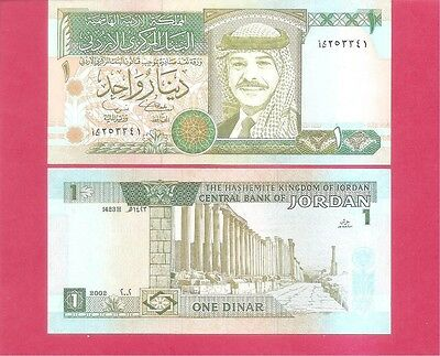 JORDAN  p29d - 1 dinar 2002 Uncirculated