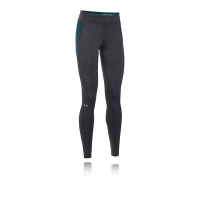 Under Armour ColdGear Womens Grey Compression Training Long Tights Bottoms Pants