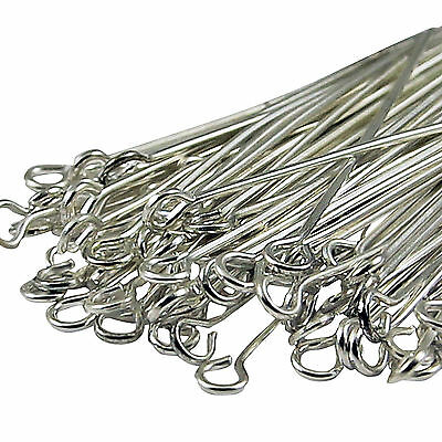 Wholesale 100Pcs Silver Plated  Eye Pin Jewelry Making 20mm DIY Auction