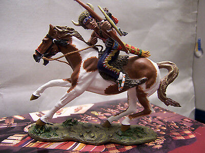 "King And Country The Real West "" Mounted Warrior With Bow & Arrow Trw014"