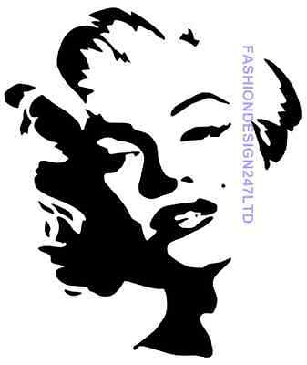 Marilyn Monroe Sher Mylar Stencil Home Decore Painting Diy Wall Art Airbrush A4