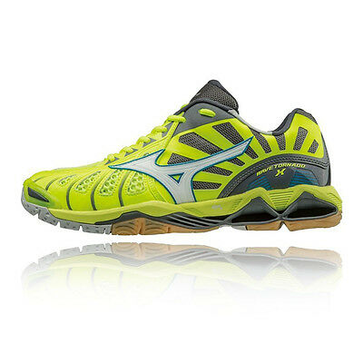 Mizuno Wave Tornado X Mens Yellow Black Squash Handball Court Shoes Trainers