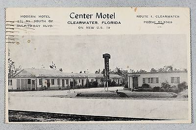 Postcard - Center Motel, Clearwater Florida
