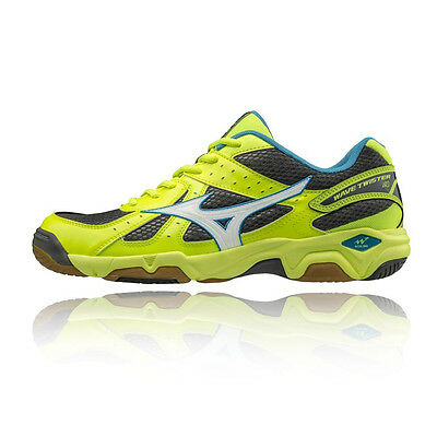 Mizuno Wave Twister 4 Mens Yellow Squash Badminton Indoor Court Shoes Trainers