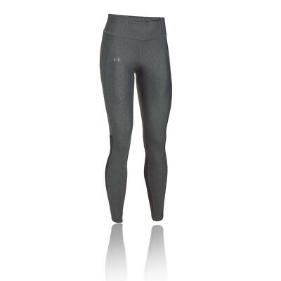 Under Armour Fly By Printed Womens Grey Compression Sports Long Tights Bottoms