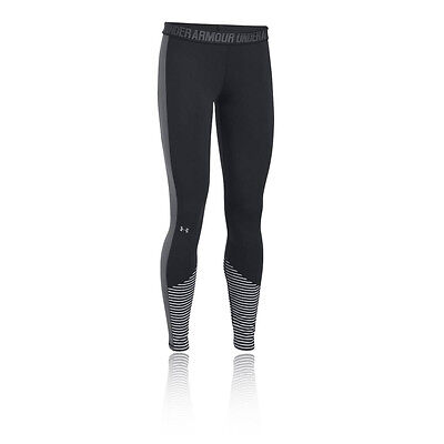 Under Armour Favorite Graphic Womens Black Long Running Tights Bottoms Pants