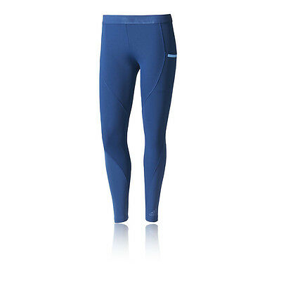 Adidas Core Womens Blue Climachill Training Long Tights Bottoms Pants