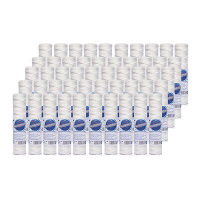 "50pk 1 Micron Wound Sediment Water Filter 10"" ideal for Reverse Osmosis"