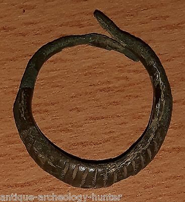 VIKING Ancient Artifact Bronze Large RING Circa 800-900 AD Amazing Rare!