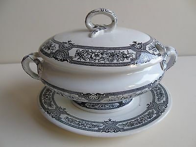 Ashworth Brothers Sauce Boat with Stand c.1868