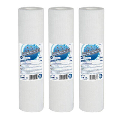 """3pk 1 Micron Sediment Water Filter 10"""" ideal for Reverse Osomosis"""