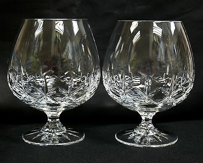 """Pair of Galway Crystal Brandy Glasses """"King's Court"""""""