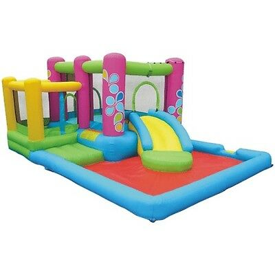 New KidWise Bounce House Water Slide Inflatable Kids Castle Jumper With Blower