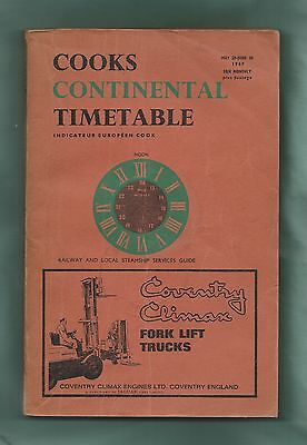 Cook's Continental Timetable (Indicateur Européen), May 1967, vg