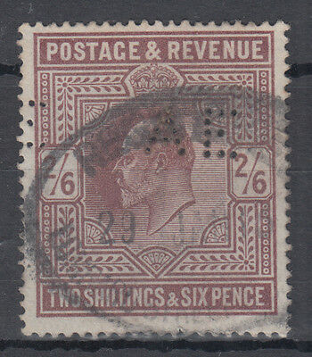 GB KEVII 2s 6d lilac High Value; perfin; Fine Used; SG 260?