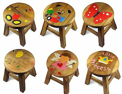 Kids Childrens Childs Wooden Stool Chair for GIRLS