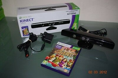 Official Xbox 360 Kinect Sensor Boxed with Power Supply and Kinect Adventures
