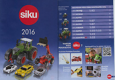 2016 Siku Diecast Toy Car Truck and Tractor Catalogue 56 Pages Free Postage