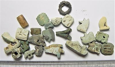 Zurqieh - Af1633- Ancient Egypt.  Group Of Faience Amulets. 600 - 300 B.c
