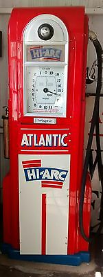 1930s Wayne 60 866 Cut Atlantic Clockface Gas Pump