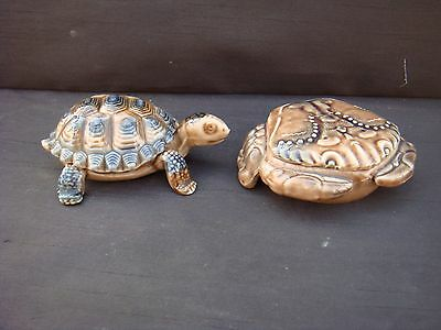Vintage Wade Tortoise And Crab Trinket Box Boxes