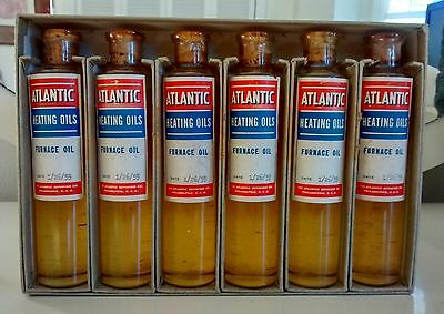 NOS Set of 6  Atlantic Gas Oil Bottles. NICE!!!!!!