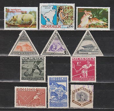 Nicarágua - 1947-1983 - 11 Different Stamps - Mng/used