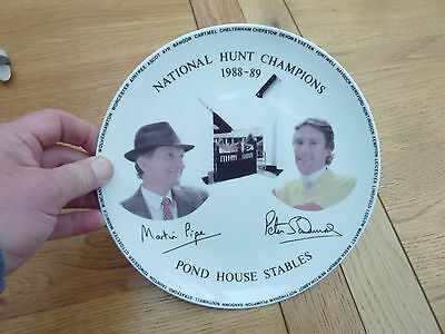 1988 Martin Pipe Peter Scudamore National Hunt Champs Ltd China Plate