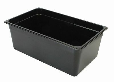 GN 1/1, 200mm Deep, 25.7Ltr Gastronorm Container, Polycarbonate, Black