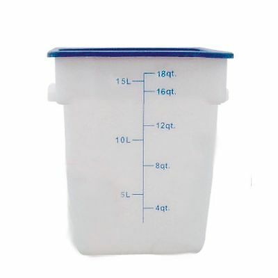 17Ltr / 18 qt (305mm x 279mm x 318mm) Square Food Storage Container, Polypropyle